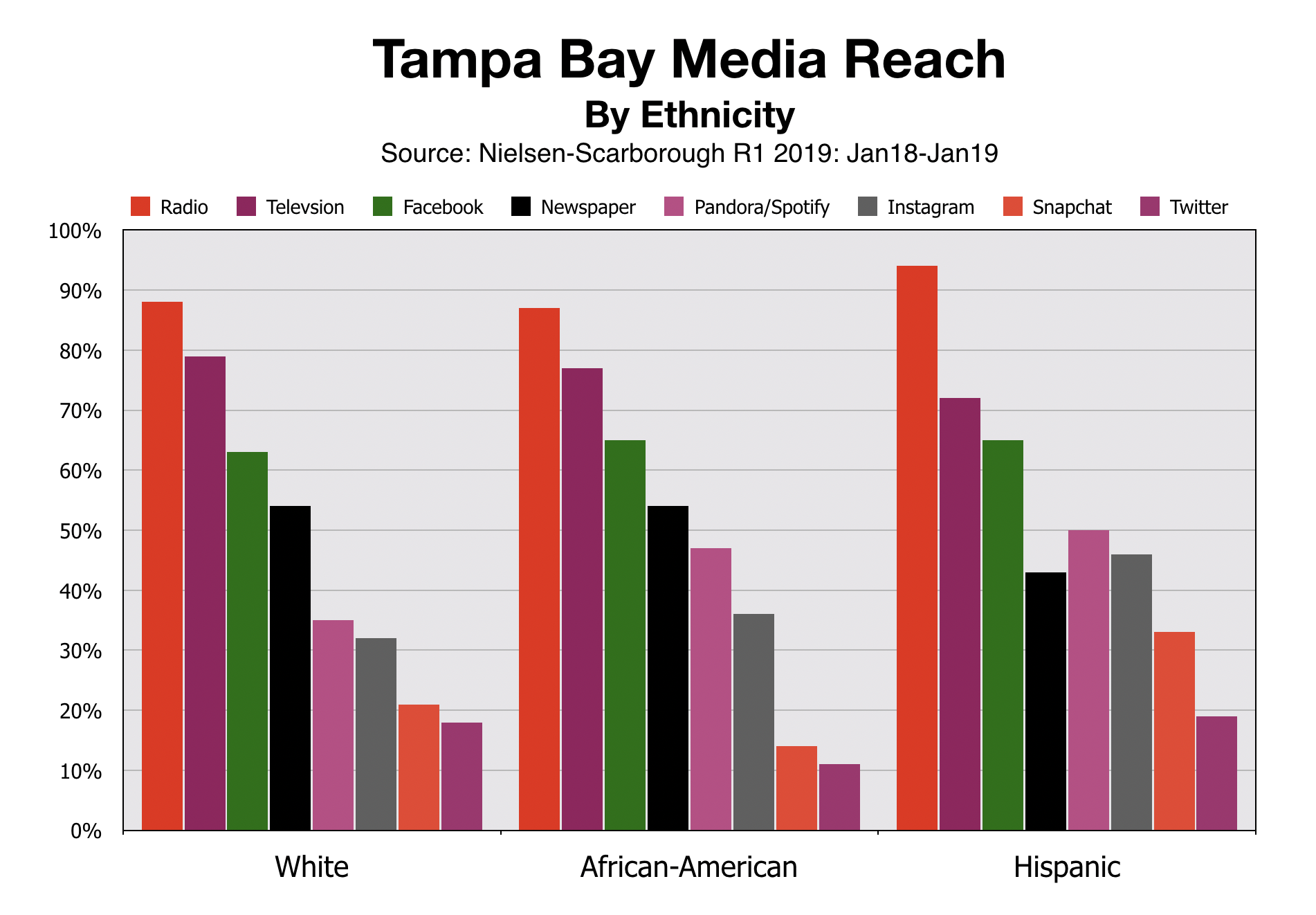 Advertise In Tampa Bay Media Reach by Ethic Demographic