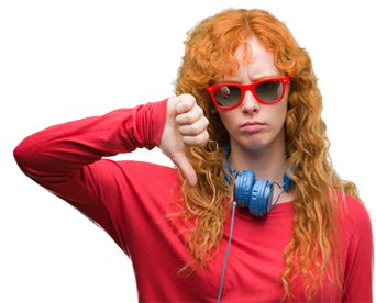 music listener thumbs down shutterstock_1206977428